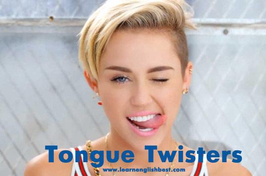 Скороговорки английском Tongue twisters
